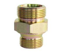 Metric Thread O-Ring Face Seal Pipe Fitting, Hydraulic Pipe Fitting, Metric Male O-Ring / BSP Male DIN3852-2 Type A 1EZ