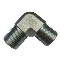 90 Degree Elbow BSPT Male Threaded Pipe Fitting Hex Nipple 1T9-SP, BSPT Thread Fitting, Hydraulic Pipe Fitting, Adapter