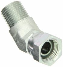 45 Degree Elbow NPT Male / NPSM Female 60 Degree Cone 2NU4, NPSM Fitting, Hydraulic Pipe Fitting, Adapter, Hex Nipple, Swivel