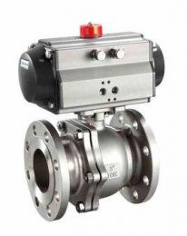 Three-Piece Type Pneumatic Actuated Ball Valve Q641F