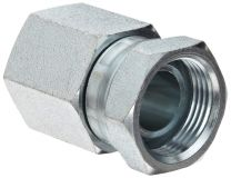 NPT Female / NPSM Female 60 Degree Cone 7NU-S, NPSM Fitting, Hydraulic Pipe Fitting, Adapter, Hex Nipple, Swivel