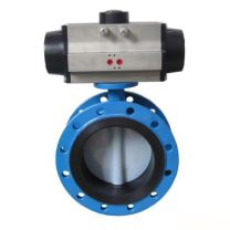 Flange Type Pneumatic Operated Concentric Wafer Butterfly Valve- D641X
