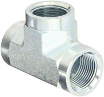 NPT Female Thread Tee Pipe Fitting GN-PK, Hydraulic Pipe Fitting, Adapter, Hex Nipple
