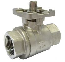 Two-Piece Type Ball Valve With Direct Mounting Pad Internal Thread KHNVS-2P-MP
