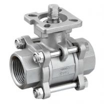 Three-Piece Type Ball Valve With Direct Mounting Pad Internal Thread KHNVS-3P-MP