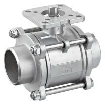 Three-Piece Type Butt Weld ISO5211 Direct Mounting Pad Ball Valve Q61FG